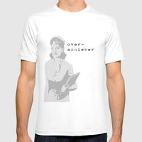 The Over Achiever Mens Fitted Tee White SMALL