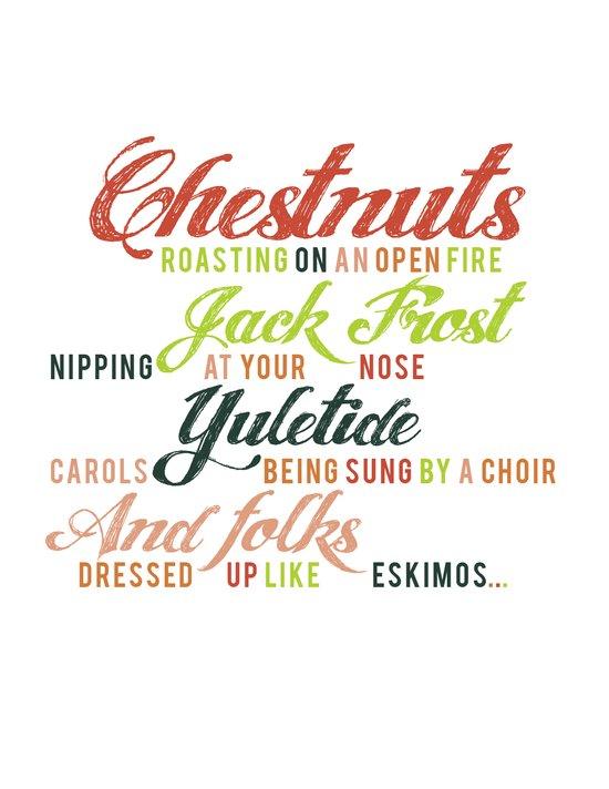 Christmas Song Art Print