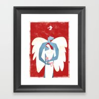 The New Christmas Family… Framed Art Print