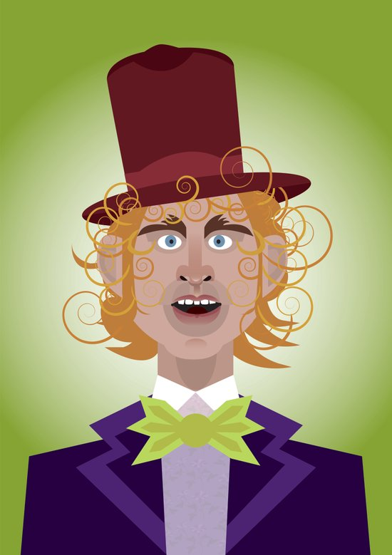 Willy Wonka from Charlie and the chocolate factory, played by the great Gene Wilder Art Print
