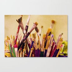 Paintbrushes Canvas Print