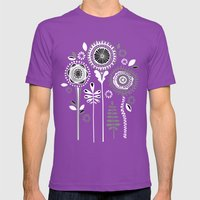 Folksy Flowerheads Rever… Mens Fitted Tee Ultraviolet SMALL
