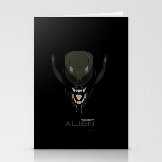 coupling up (accouplés) Woody Alien Stationery Card