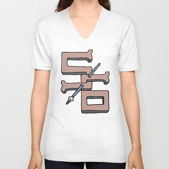 S6 STRIKE V-neck T-shirt