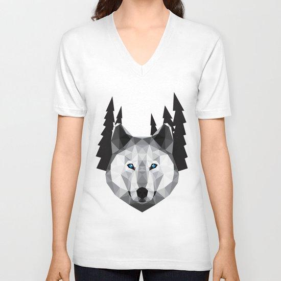 The Tundra Wolf V-neck T-shirt