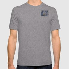 White Phalaenopsis Mens Fitted Tee Athletic Grey SMALL