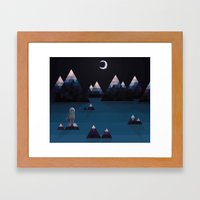so quiet Framed Art Print
