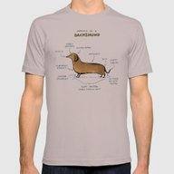Anatomy Of A Dachshund Mens Fitted Tee Cinder SMALL
