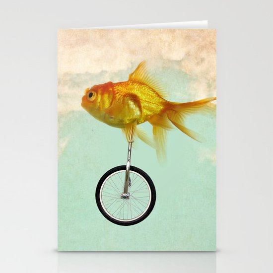 unicycle goldfish 02 Stationery Card