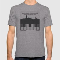 No192 My Casablanca minimal movie poster Mens Fitted Tee Athletic Grey SMALL