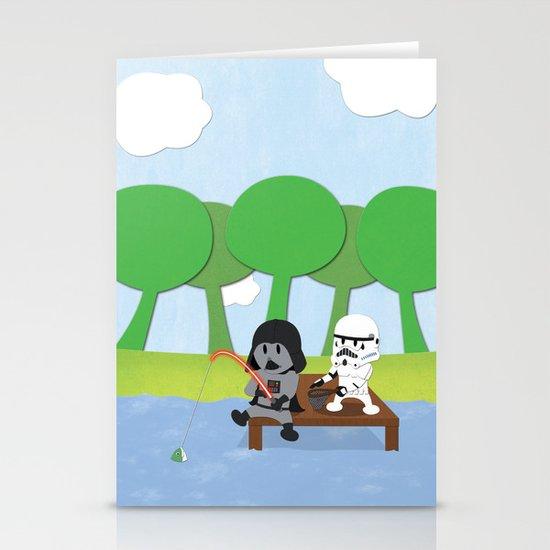 SW Kids - Darth Fishing Stationery Card
