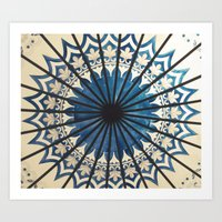 Blue orient  Art Print