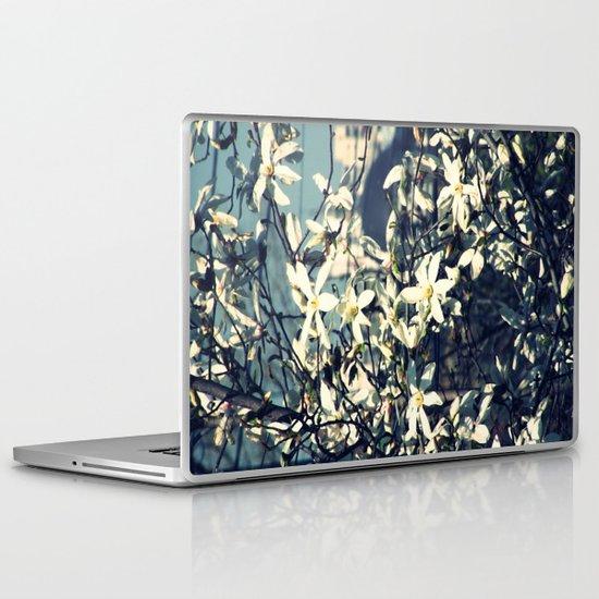 White magnolia tree Laptop & iPad Skin