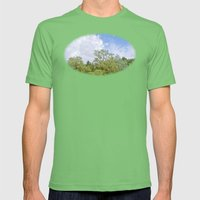 Green skycrapers Mens Fitted Tee Grass SMALL