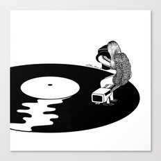 Don't Just Listen, Feel … Canvas Print