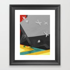 It ain't easy being green and constantly on the run from the military. Framed Art Print