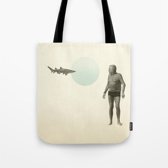 shark bate Tote Bag