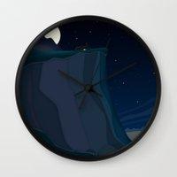 Fairy Landscape (at Nigh… Wall Clock