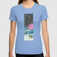 Get Your Bearings Womens Fitted Tee Tri-Blue SMALL