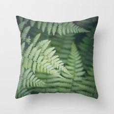 Where the Redwood Fern Grows Throw Pillow