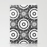 Geometric Black And Whit… Stationery Cards