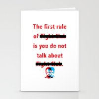 The First Rule Of Fight … Stationery Cards