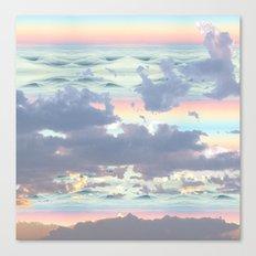 Pastel Ocean Sky Canvas Print