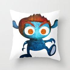 Mr. Blue Throw Pillow