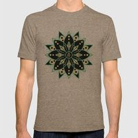 Peace Tile Print Mens Fitted Tee Tri-Coffee SMALL