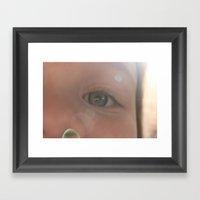 The Eyes Of Girls Framed Art Print