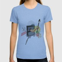 UNTITLED #2 Womens Fitted Tee Athletic Blue SMALL