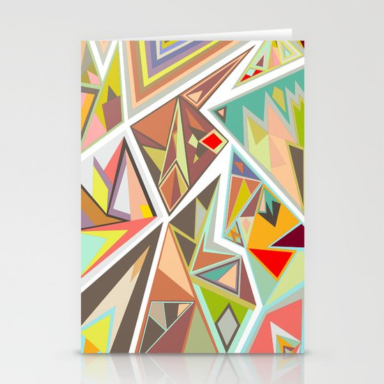 Shattered Glass Stationery Card