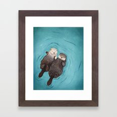 Otterly Romantic - Otter… Framed Art Print