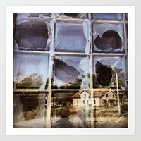 House Reflected In A Bro… Art Print