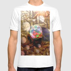 10gn1 SMALL White Mens Fitted Tee
