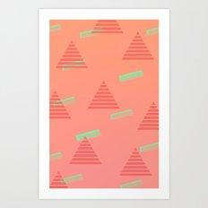 Traingle Pattern Art Print