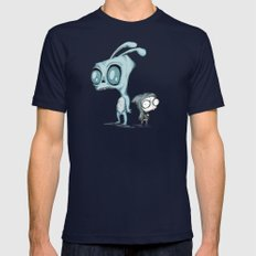 Invader Darko Mens Fitted Tee Navy SMALL