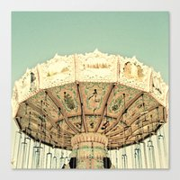 Fair Ride in Aqua Canvas Print