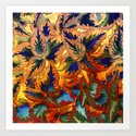 colorful foliage Art Print