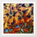 colorful foliage Art Print