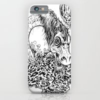 iPhone Cases featuring CADBOROSAURUS WILSI MONSTER by RAPIDPUNCHES