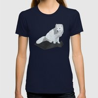 Arctic Fox Womens Fitted Tee Navy SMALL