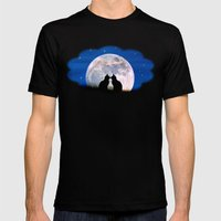The Love Cats Mens Fitted Tee Black SMALL