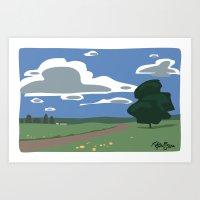 Vector Scenic Art Print
