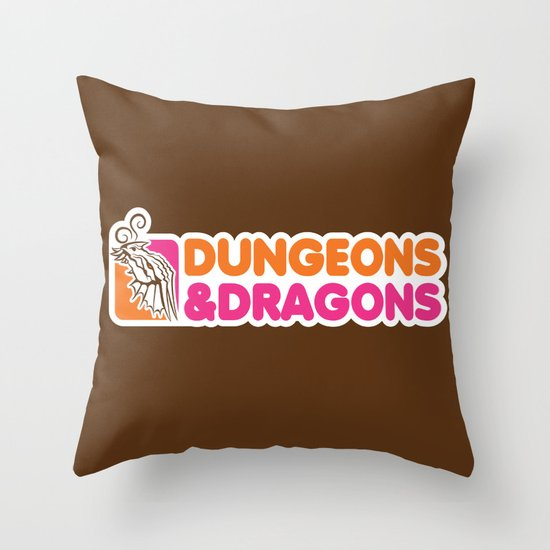 D&D All Nighter Throw Pillow