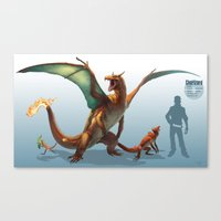 Pokemon-Charizard Canvas Print
