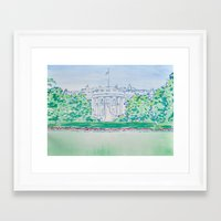 White House Print Framed Art Print