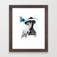 tewa girl 2 Framed Art Print
