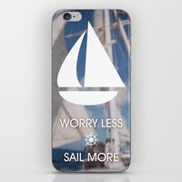 Worry Less Sail More 2 iPhone & iPod Skin
