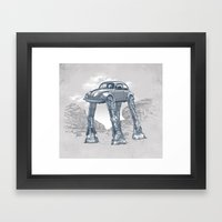 Star Warsvergnugen Framed Art Print